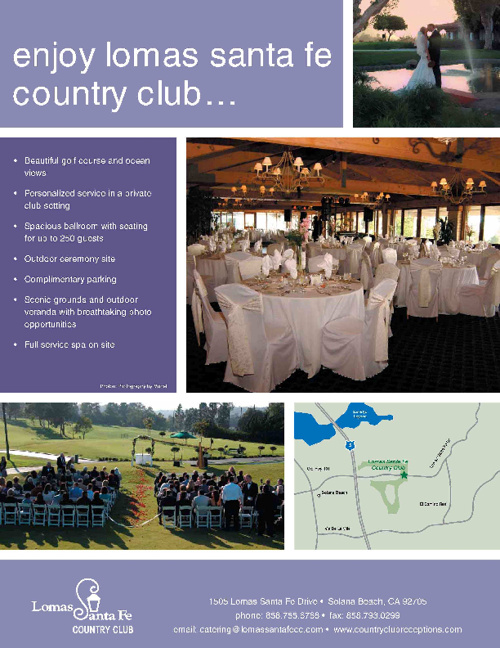 Lomas Santa Fe Country Club Banquet Package
