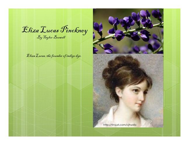 Eliza Lucas Pinckney by TB