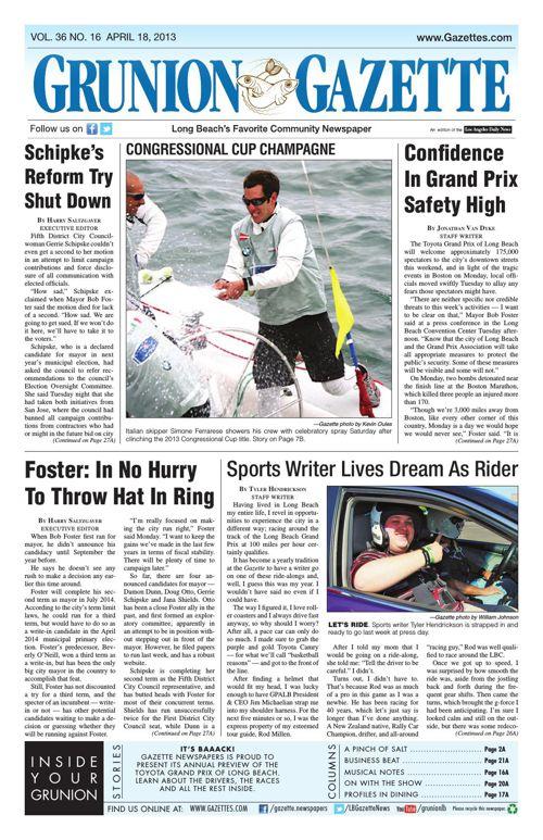Grunion Gazette | April 18, 2013