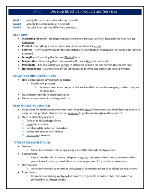 Note taking Guides