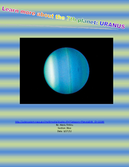 Learn more about the 7th planet: URANUS