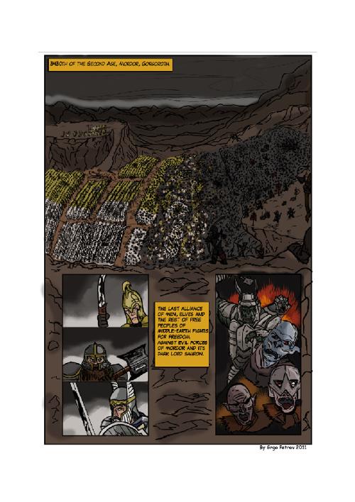 Fall of Isildur, the High King of Dunedain