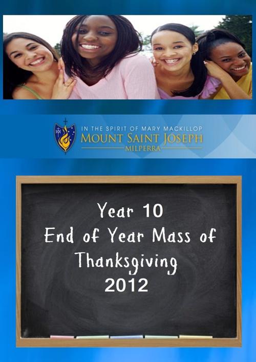 Year 10 Mass