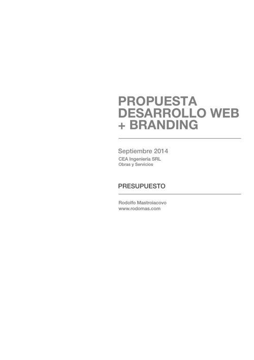 Proyecto + Presupuesto CEA Ingeniería SRL
