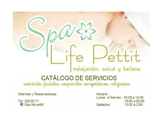 CATALOGO SPA LIFE PETTIT