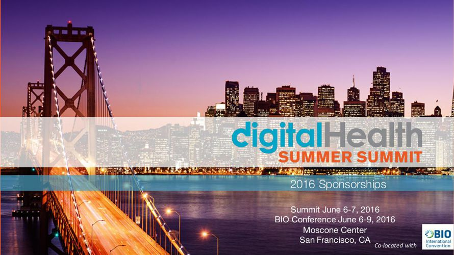 2016 Digital Health Summit Sponsor Package
