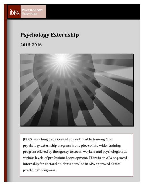 Psychology Externship Brochure JBFCS 2015-16
