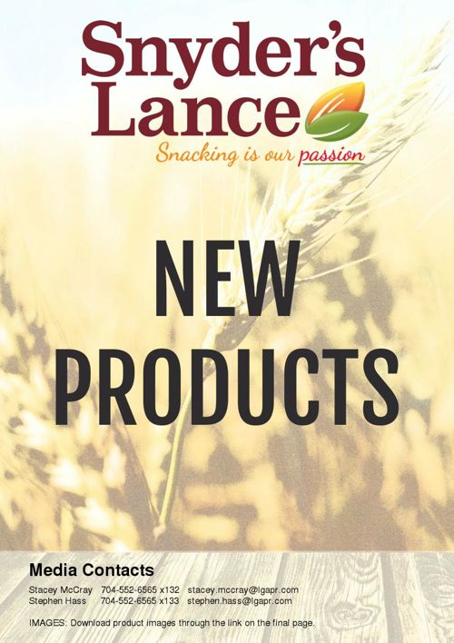 New Products from Snyder's-Lance