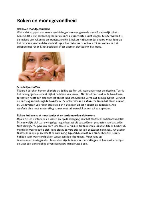 Folders voor mondgezondheid