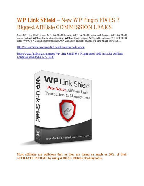 WP Link Shield  review demo- WP Link Shield FREE bonus
