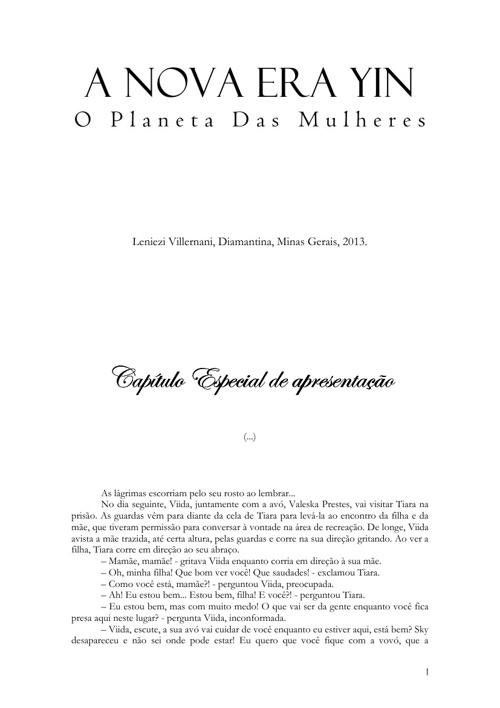 A NOVA ERA YIN, O Planeta Das Mulheres (...)