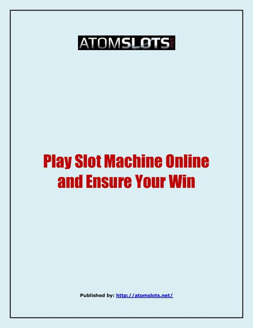 AtomSlots - Online Slots For Free Or Real Money