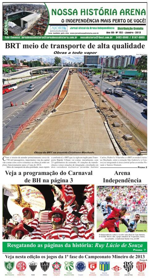 Jornal Nossa História Arena - Ed. 152