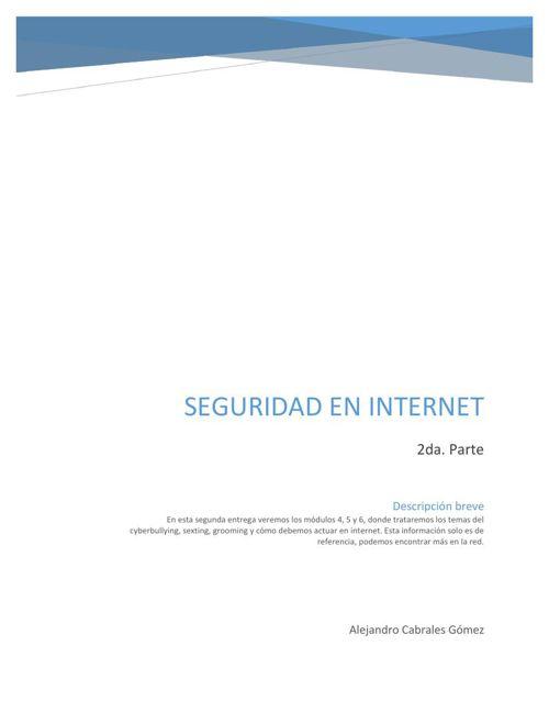 Seguridad en Internet - Antología 2da. Parte