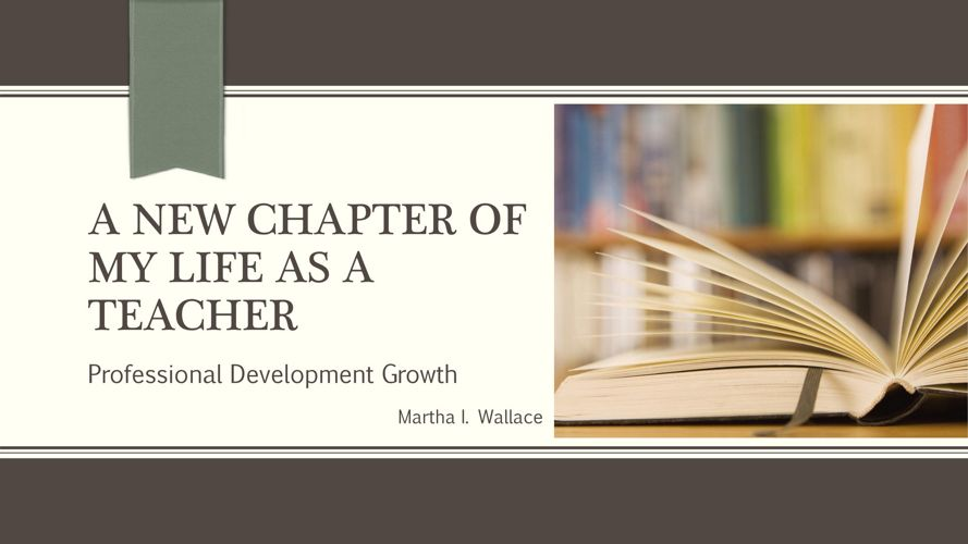 A New Chapter of My Life as a Teacher