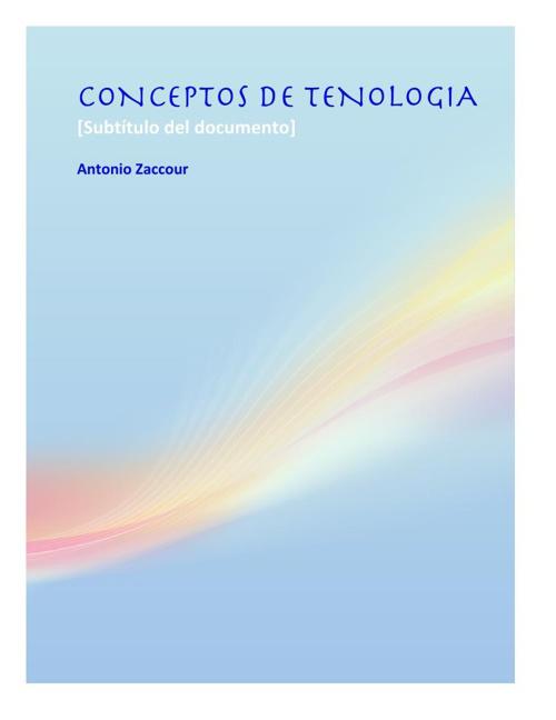 CONCEPTOS DE TENOLOGIA