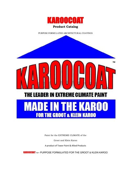 KAROOCOAT PRODUCT CATALOGUE