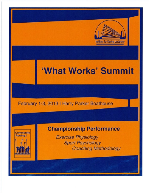 The 'What Works' Summit 2013 Web Manual