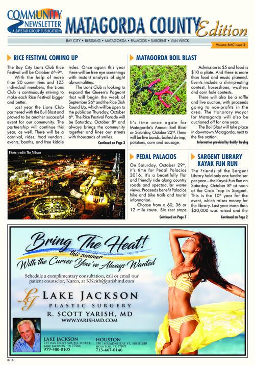 Matagorda Community Newsletter Volume 5 Issue 3