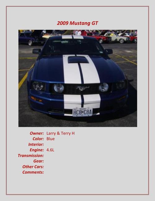 2008-newer Members' Cars