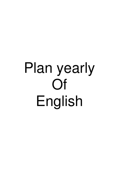 plann yearly of english