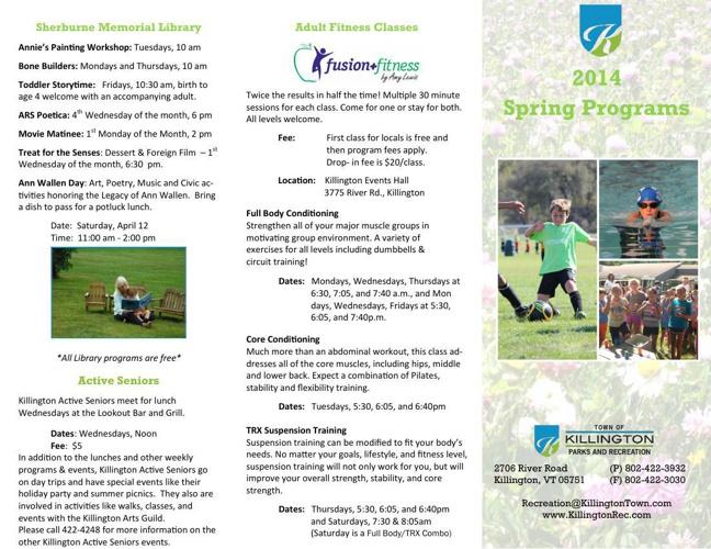 2014 Spring Programs Brochure
