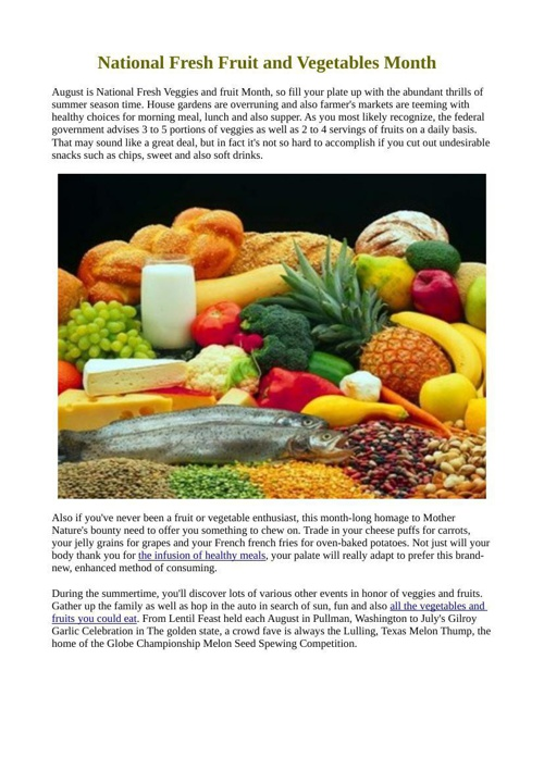 National Fresh Fruit and Vegetables Month