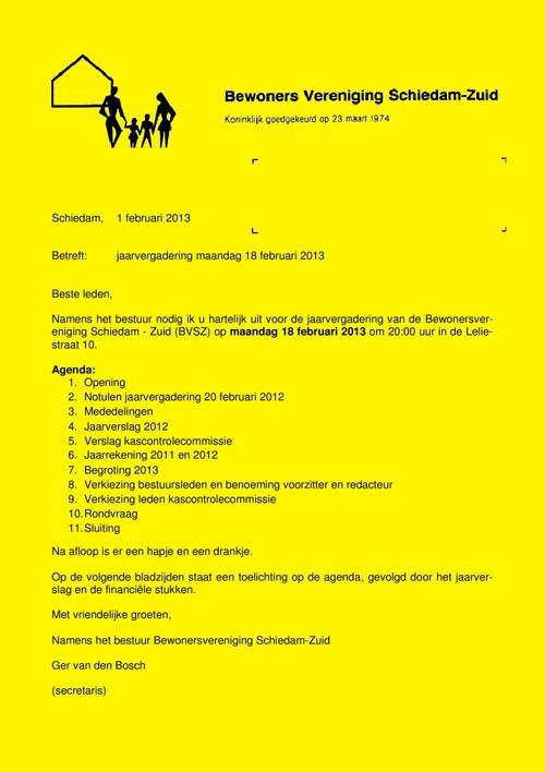 Jaarverslag 2012 BVSZ