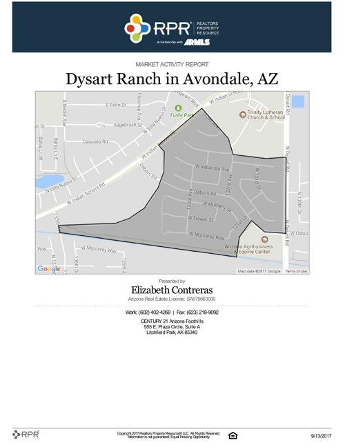 Dysart Ranch Market Activity Report 091317