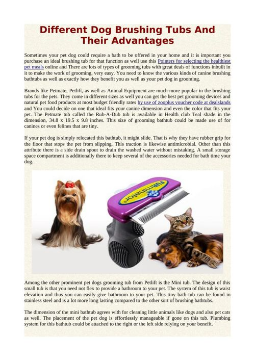 Different Dog Brushing Tubs And Their Advantages