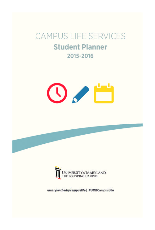 College Planners - 2015-2016 University of Maryland Planner