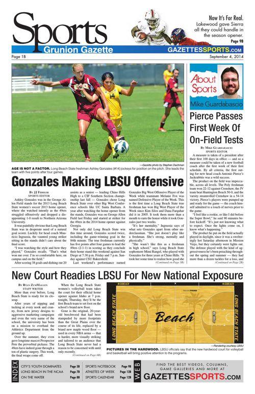 Gazette Sports   September 4, 2014