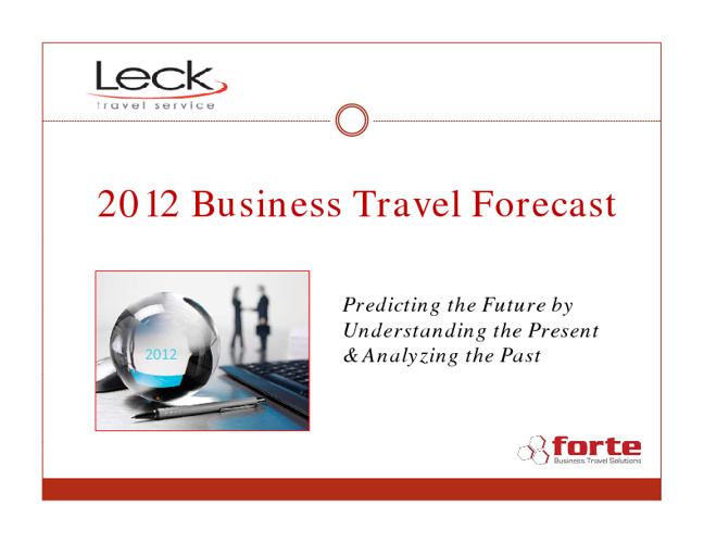 2012 Business Travel Forecast