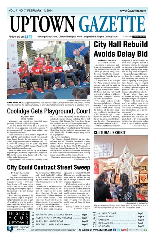 Uptown Gazette  |  February 7, 2014