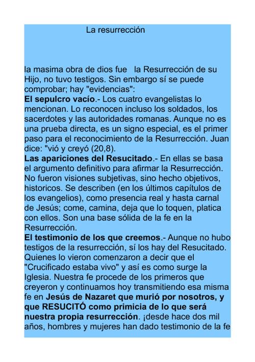 la resurreccion de jesús