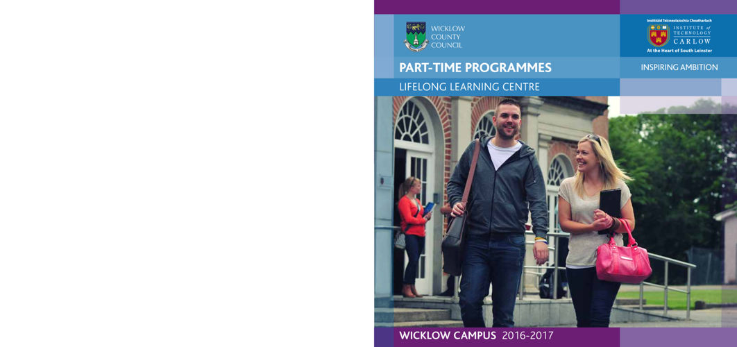 ITCarlow - Wicklow Part-Time Prospectus 2016-2017