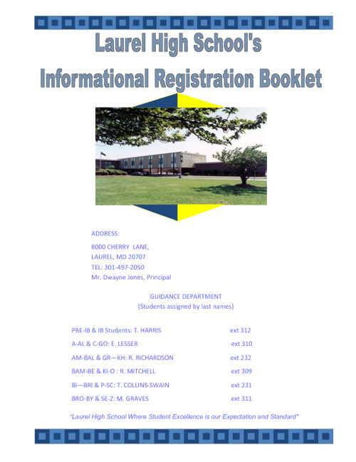2012-2013 NEW REGISTRATION BOOKLET