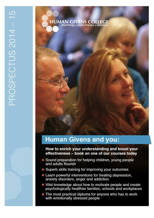 Human Givens College Prospectus 2014-15