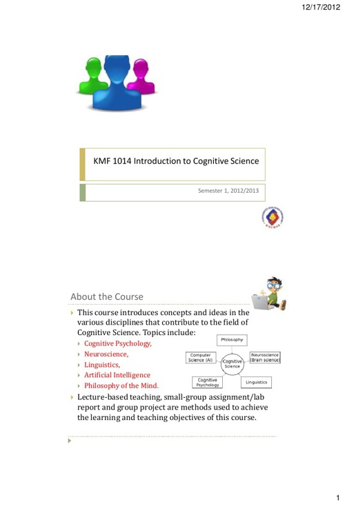 Introduction to Cognitive Science (Lecture Slides)