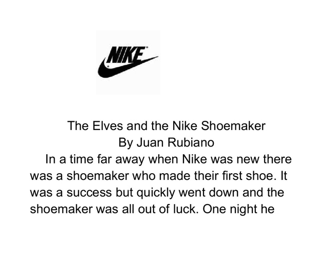 The Elves and the Nike Shoemaker