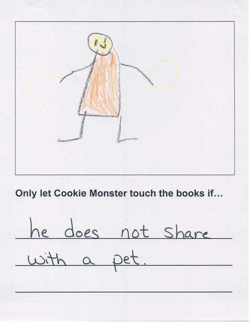 K2 Cookie Monster in the Library