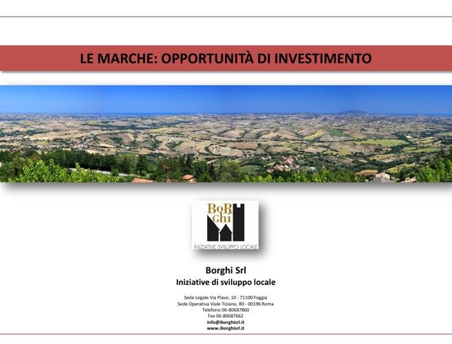 Marche - Opportunità di investimento