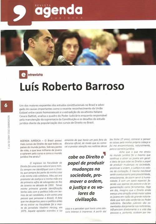 Agenda Jurídica Entrevista: Luis Roberto Barroso