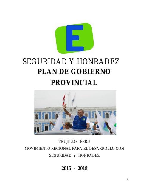 Plan Gobierno Provincial Trujillo