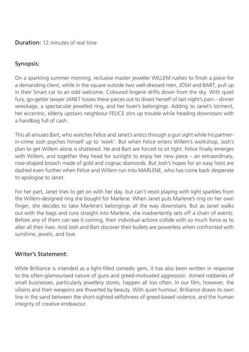 Brilliance - Synopsis