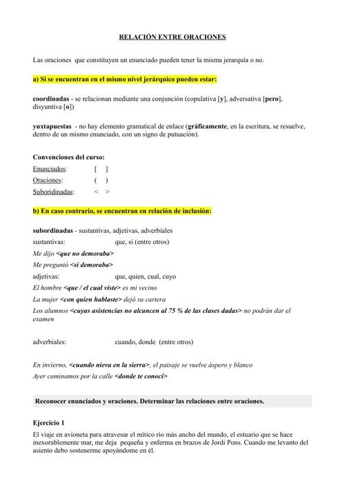Primeros tres repartidos del tema 1- lengua 1 Liccom- Gen. 2013