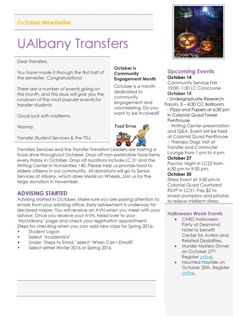 Transfer Newsletter - October 2015