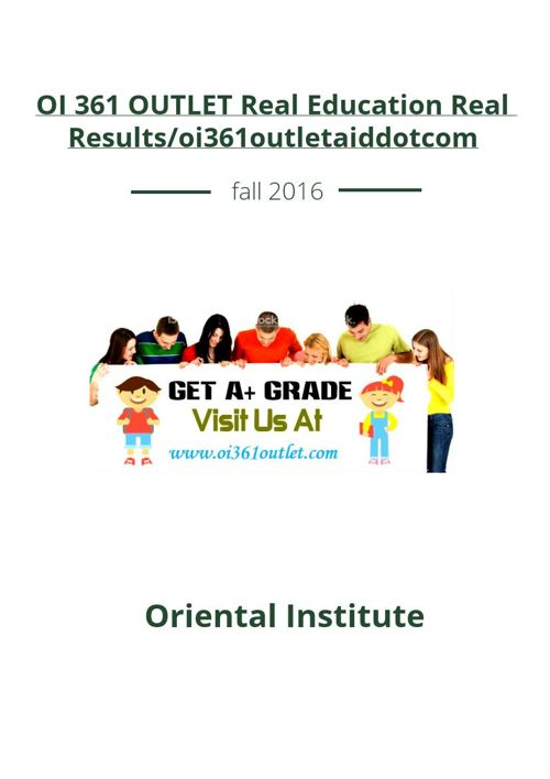 OI 361 OUTLET Real Education Real Results/oi361outletaiddotc