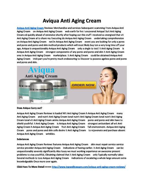 Aviqua Anti Aging Cream