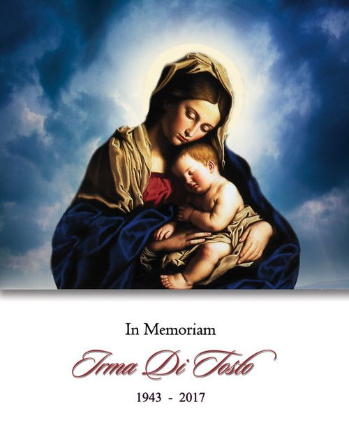 Memorial Card for Irma Di Tosto (nee Bifano)